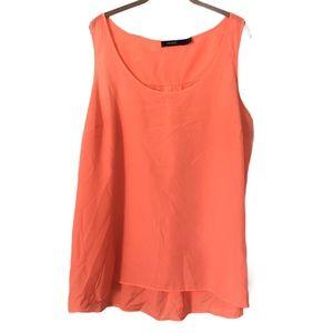 Eloquii Hi Low Pintuck Tank Top Shirt Plus Size 18